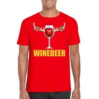 Shoppartners Foute Kerst t-shirt Winedeer rood voor heren