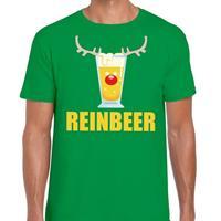 Shoppartners Foute Kerst t-shirt Reinbeer groen voor heren