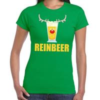 Shoppartners Foute Kerst t-shirt Reinbeer groen voor dames
