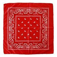 3 stuks voordelige rode boeren zakdoeken 53 x 53 cm Rood
