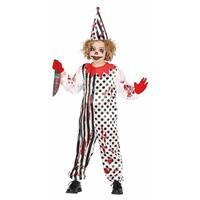 Zombie moordenaar enge clownspak voor kinderen