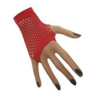 Coppens Nethandschoenen kort rood vingerloos
