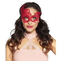 Coppens Oogmasker Masquerade rood