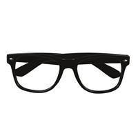 Coppens partybril zwart zonder glas