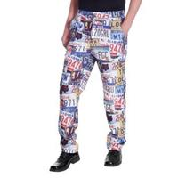 Broek multi print, nummerplaten