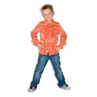 Coppens Kinder Ruche Blouse Oranje