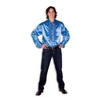 Coppens Ruche Blouse Kobaltblauw