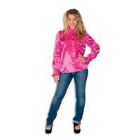 Coppens Dames Ruche Blouse Pink