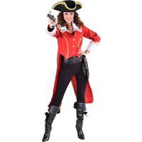 Coppens Piraat/admiraalsjas rood
