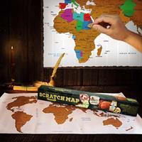 Gizzys Scratch Map - Wereld Kraskaart