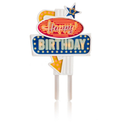 Happy Birthday caketopper met verlichting