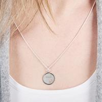 YourSurprise Zilveren hanger - Cirkel met hartjes uitsnede