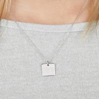YourSurprise Zilveren ketting met vierkante hanger