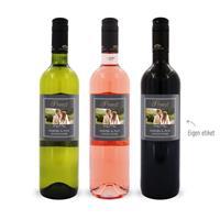 YourSurprise Wijnpakket met etiket - Luc Pirlet - Merlot, Syrah en Sauvignon Blanc