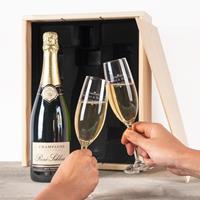 YourSurprise Champagnepakket met gegraveerde glazen - René Schloesser (750ml)