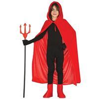 Rode Halloween verkleedcape met capuchon voor kinderen