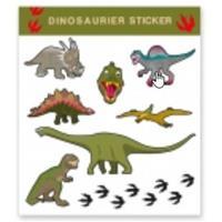 Tattoo stickers dinosaurussen 8 stuks Multi