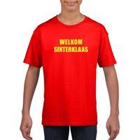 Shoppartners Welkom Sinterklaas rood T-shirt voor kinderen
