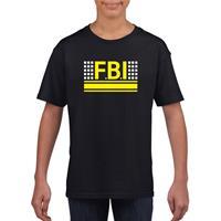 Shoppartners FBI logo t-shirt zwart voor kinderen