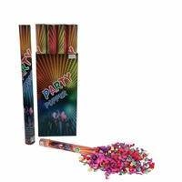 3x Confetti kanon kleuren 60 cm Multi