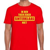 Shoppartners Sint shirt rood Ik ben toch zeker Sinterklaas niet voor mannen Rood