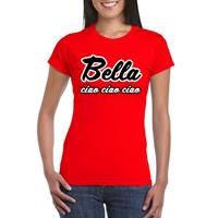 Shoppartners Toppers - Rood Bella Ciao t-shirt voor dames