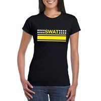Shoppartners SWAT team logo t-shirt zwart voor dames