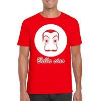 Shoppartners Rood Salvador Dali t-shirt voor heren