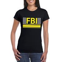 Shoppartners FBI logo t-shirt zwart voor dames