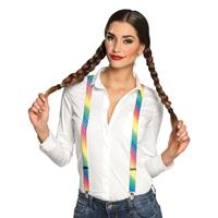 Regenboog bretels voor dames