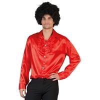 Toppers - Voordelige rode rouche blouse voor heren