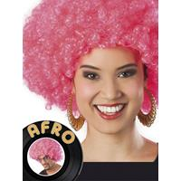 Coppens Pruik afro of clown luxe roze