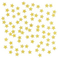 2 x stuks gouden sterren confetti zakjes 15 gram Goudkleurig