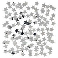 2 x stuks zilveren sterren confetti zakje 15 gram Zilver