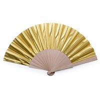 Gouden Spaanse handwaaier cm Goudkleurig