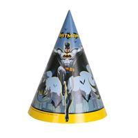 8x Batman themafeest punthoedjes Multi