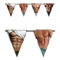 Vlaggenlijn bloot mannenlijf/torso 6 meter Multi