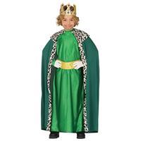 Koning mantel groen verkleedkostuum voor kinderen