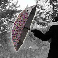 Impliva paraplu Wetlook handopening 102 cm grijs/paars