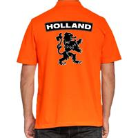 Koningsdag poloshirt Holland met grote leeuw oranje voor heren
