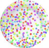 Haza Original Borden 23cm 8 stuks Confetti