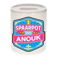 Kinder spaarpot voor Anouk - keramiek - naam spaarpotten