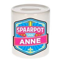 Kinder spaarpot voor Anne - keramiek - naam spaarpotten