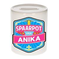 Kinder spaarpot voor Anika - keramiek - naam spaarpotten