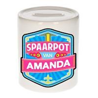 Kinder spaarpot voor Amanda - keramiek - naam spaarpotten
