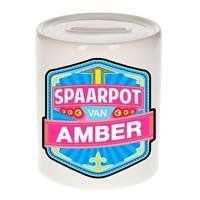 Kinder spaarpot voor Amber - keramiek - naam spaarpotten