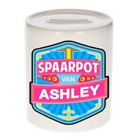 Kinder spaarpot voor Ashley - keramiek - naam spaarpotten