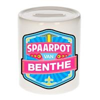 Kinder spaarpot voor Benthe - keramiek - naam spaarpotten