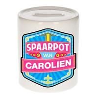 Kinder spaarpot voor Carolien - keramiek - naam spaarpotten