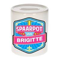 Kinder spaarpot voor Brigitte - keramiek - naam spaarpotten